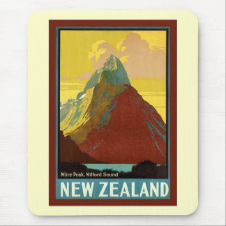 New Zealand Mitre Peak Milford Sound Mouse Pad