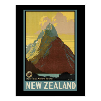 New Zealand Mitre Peak Milford Sound Postcard