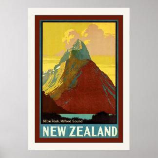 New Zealand Mitre Peak Milford Sound Posters