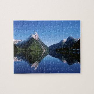 New Zealand, Mitre Peak, Milford Sound, Jigsaw Puzzle