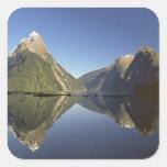 New Zealand, Mitre Peak & Milford Sound, Square Sticker