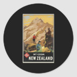 New Zealand Mount Cook Classic Round Sticker
