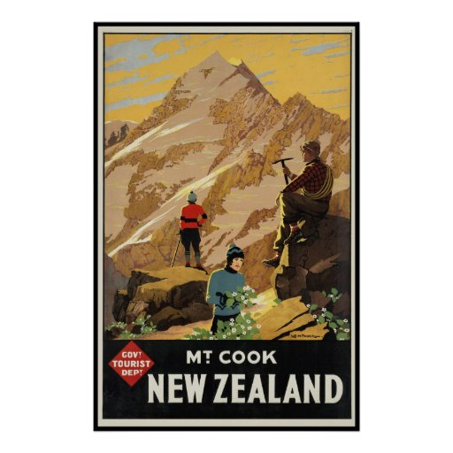 New Zealand Mount Cook Posters