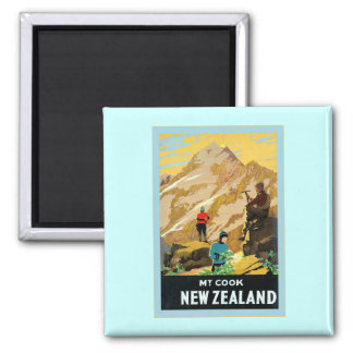 New Zealand ~ Mount Cook ~ Vintage Travel Magnet