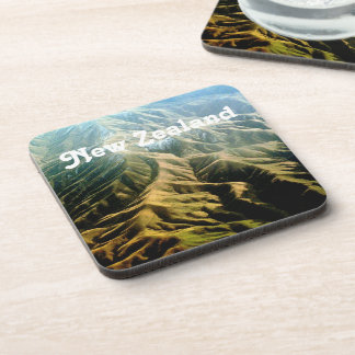 New Zealand Mountains Beverage Coasters