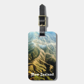 New Zealand Mountains Bag Tag