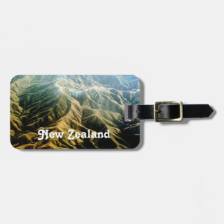 New Zealand Mountains Bag Tags