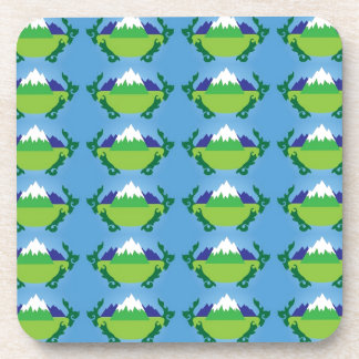 New Zealand mountains pattern Drink Coasters