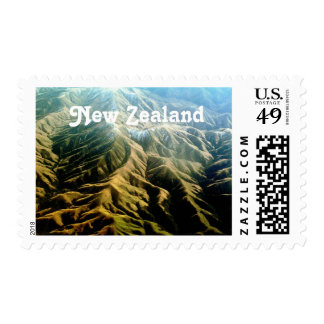 New Zealand Mountains Postage Stamp