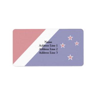 New Zealand, New Zealand Address Label