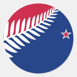 New Zealand, New Zealand Classic Round Sticker
