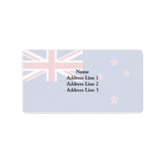 New Zealand, New Zealand flag Address Label