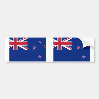New Zealand, New Zealand flag Car Bumper Sticker