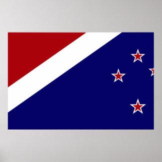 New Zealand, New Zealand flag Print
