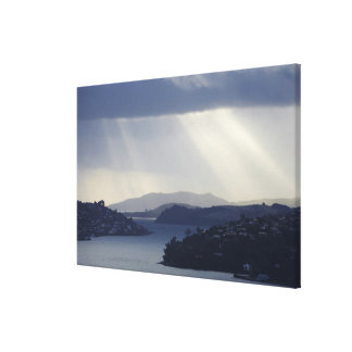 New Zealand, Otago, Dunedin, Light Shafts over Stretched Canvas Prints