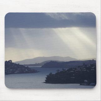 New Zealand, Otago, Dunedin, Light Shafts over Mouse Pad