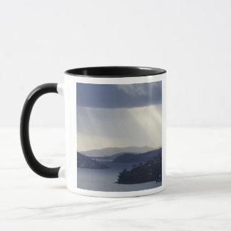 New Zealand, Otago, Dunedin, Light Shafts over Mug