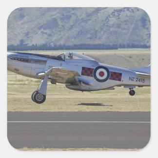 New Zealand, Otago, Wanaka, Warbirds Over 4 Square Sticker
