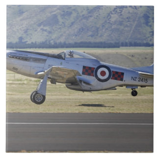 New Zealand, Otago, Wanaka, Warbirds Over 4 Large Square Tile