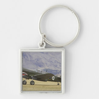 New Zealand, Otago, Wanaka, Warbirds Over 5 Silver-Colored Square Keychain