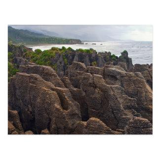 New Zealand: Pancake Rocks Postcard