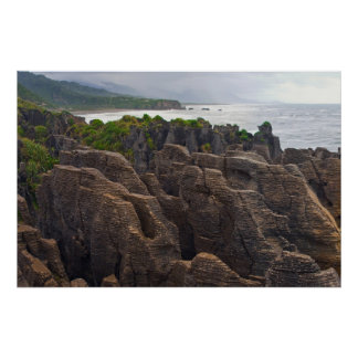 New Zealand: Pancake Rocks Poster