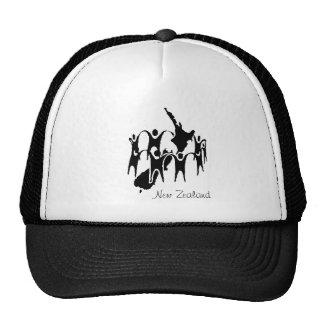 New Zealand People Circle Trucker Hat