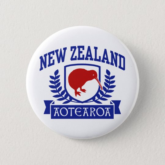 New Zealand Pinback Button