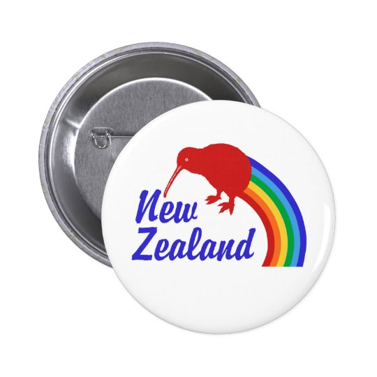 New Zealand Pinback Button