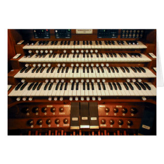 New Zealand pipe organ console Card