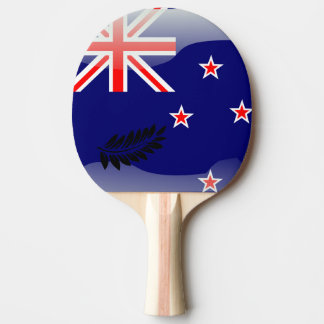New Zealand polished flag Ping-Pong Paddle