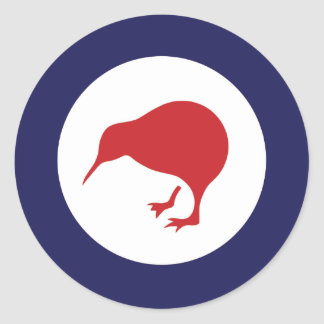 New Zealand RAF Kiwi Roundel Classic Round Sticker