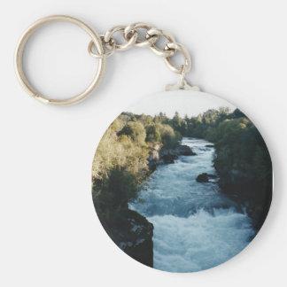 New Zealand Rapids Basic Round Button Keychain