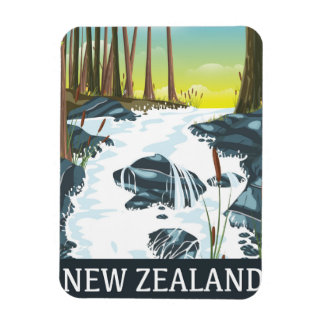 New Zealand River travel poster Magnet
