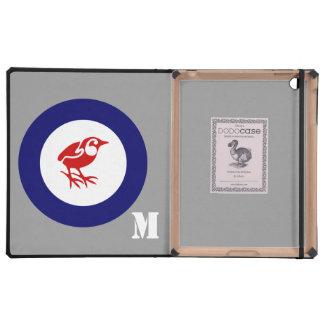 New Zealand Rock Wren Roundel iPad Folio Cases