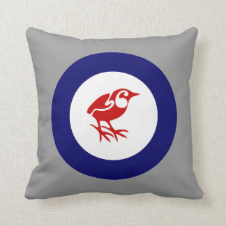 New Zealand Rock Wren Roundel Throw Pillow