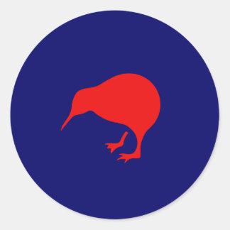 new zealand roundel kiwi low visibility classic round sticker