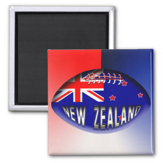 New Zealand Rugby Ball 2 Inch Square Magnet