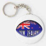 New Zealand Rugby Ball Basic Round Button Keychain