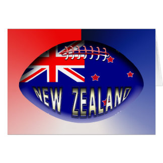 New Zealand Rugby Ball Greeting Cards
