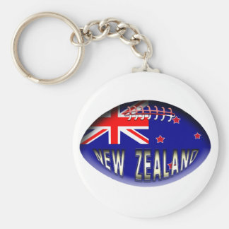 New Zealand Rugby Ball Basic Round Button Keychain