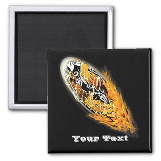 """New Zealand"" rugby Kiwis fans supporters 2 Inch Square Magnet"