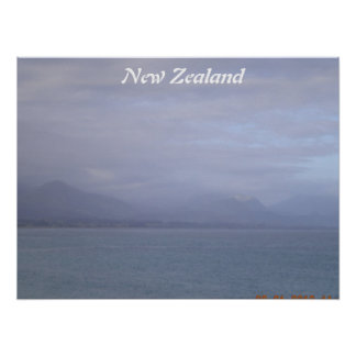 New Zealand seascape poster