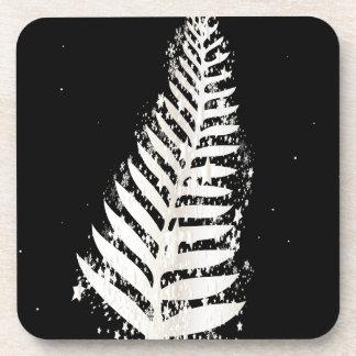 New Zealand SIlver Fern Christmas Tree Drink Coaster