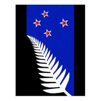 New Zealand Silver Fern Flag Postcard
