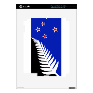 New Zealand Silver Fern Flag Skins For iPad 2
