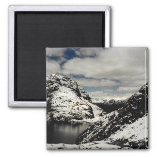 New Zealand Snowy Mountain Landscape Magnet