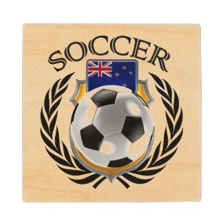 New Zealand Soccer 2016 Fan Gear Wooden Coaster