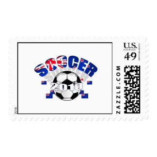 New Zealand Soccer Celebration Postage Stamps