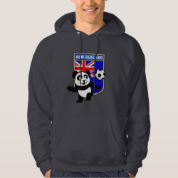Men's Basic Hooded Sweatshirt with New Zealand Football Panda design